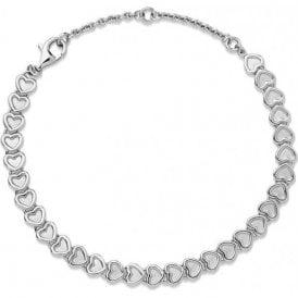 Endless Love Sterling Silver Mini Heart Bracelet