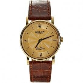 Gents 18 carat yellow Rolex Cellini manual watch