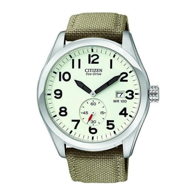 Citizen Watches Gents Eco Drive Citizen on fabric Strap BV1080 18A