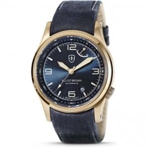 Gents Elliot Brown bronze case limited Tyneham strap watch