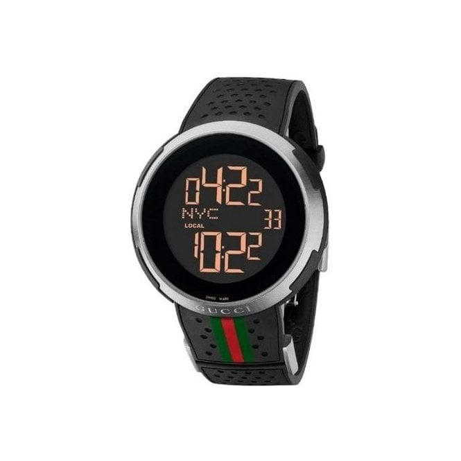 Gucci Watches Gents I-Gucci Digital Display on Rubber Strap
