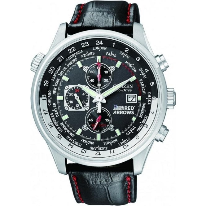 Citizen Watches Gents Red Arrows World Chronograph Radio Controlled