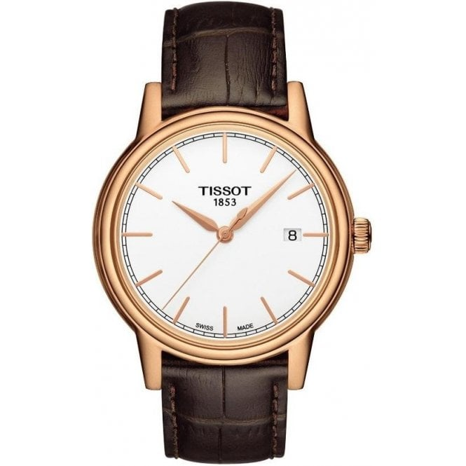 Tissot Watches Gents Rose Coloured Tissot Carson Watch