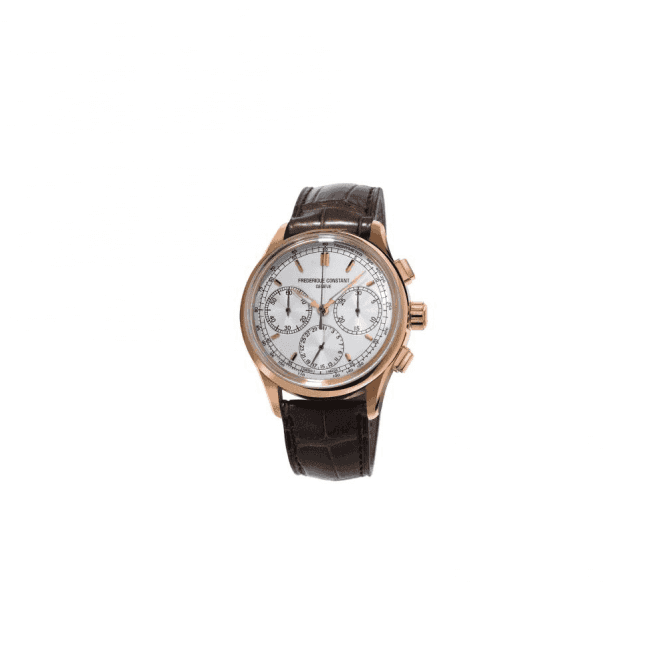 Frederique Constant Gents rose gold plated Frederique Constant automatic chronograph watch