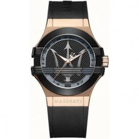 Gents rose plated Maserati Potenza strap watch, R8851108002