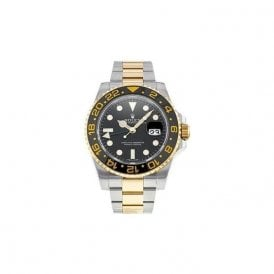 Gents steel and gold Rolex GMT Master 2 bracelet watch.