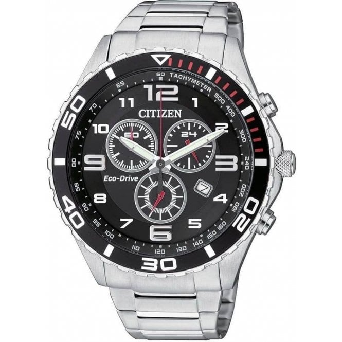 Citizen Watches Gents steel Citizen Eco Drive chronograph  model, AT2121-50E