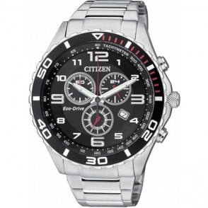Gents steel Citizen Eco Drive chronograph  model, AT2121-50E