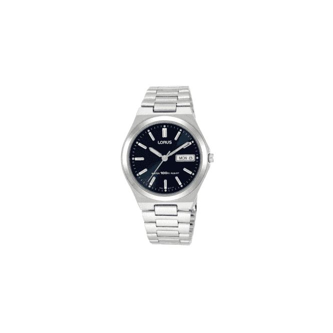 Lorus Gents steel Lorus quartz, blue dial, bracelet. RXN17BX9