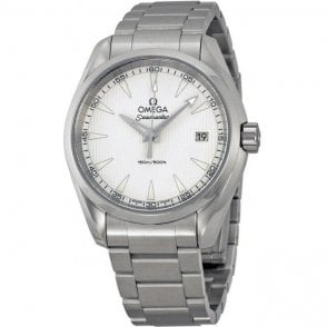 Gents steel Omega Seamaster Aqua Terra quartz watch.