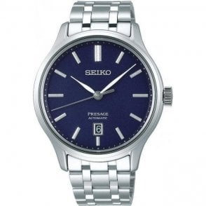 Gents steel Seiko Pressage automatic on bracelet, SRPD41J1