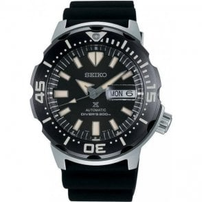 Gents steel Seiko Prospex automatic with black dial, SRPD27K1