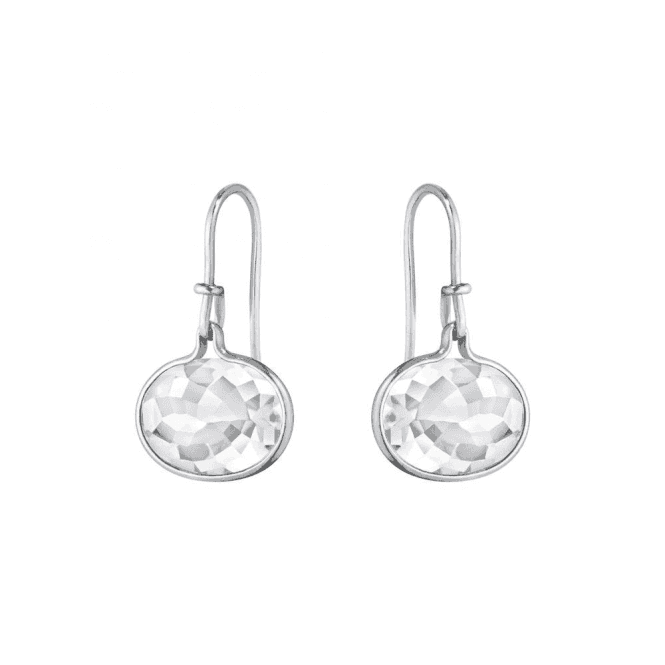 Georg Jensen Pair silver and rock crystal drops from George Jensen. 10003044