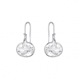 Pair silver and rock crystal drops from George Jensen. 10003044