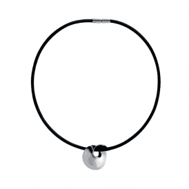 Georg Jensen Silver Mobius Round Pendant on Black Cord