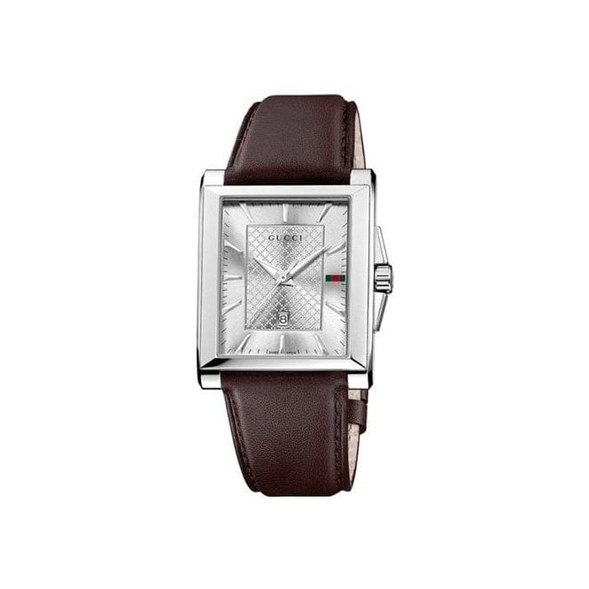 Gucci Watches Gucci Gents Watch on Brown Leather Strap YA138405