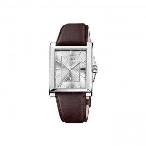 Gucci Gents Watch on Brown Leather Strap YA138405