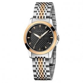 Gucci Ladies G-Timeless steel and rose watch