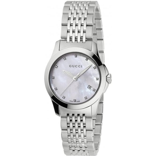 Gucci Watches Gucci Ladies Timeless Stainless Steel Bracelet Watch