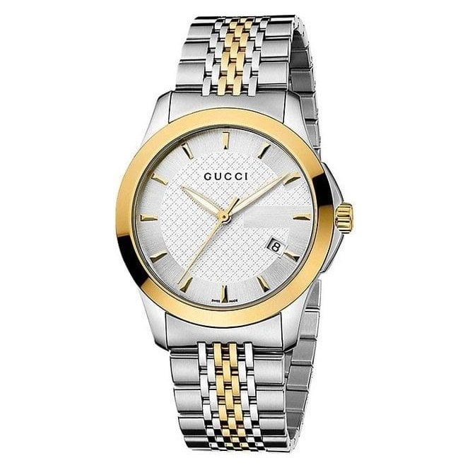 Gucci Watches Gents Timeless Stainless Steel and Yellow Gold PVD