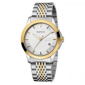 Gucci Gents Timeless two colour tone bracelet YA126409