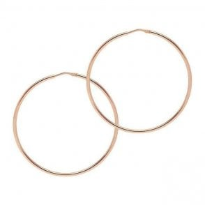 La Chica Latina Rose Gold 53mm Medio Hoops