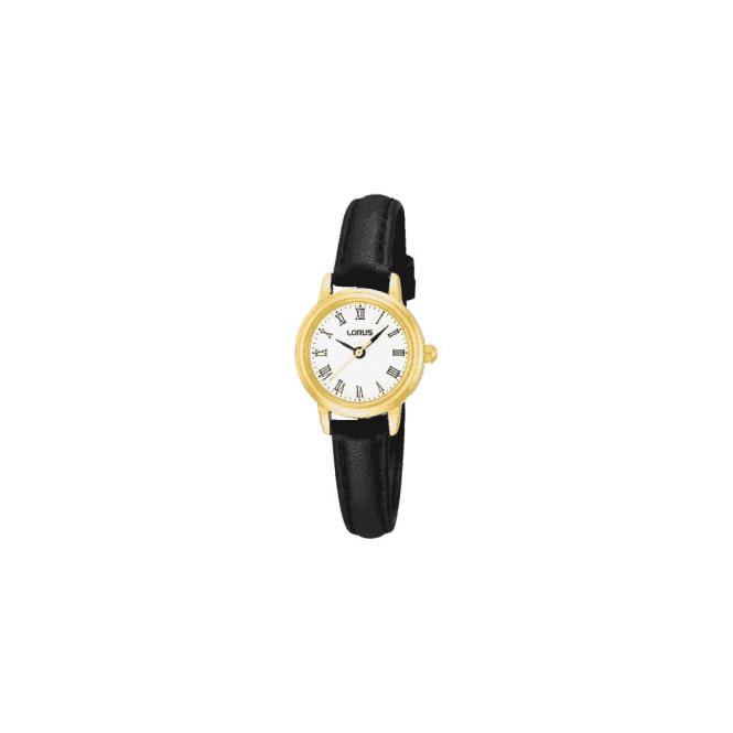 Lorus Ladies classic gold plated strap watch. RG294HX9