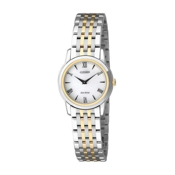 """Citizen Watches Ladies Classical """"Stiletto"""" Eco Drive Two-Tone Watch"""