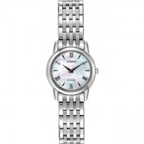 Ladies Eco Drive Mother of Pearl Watch