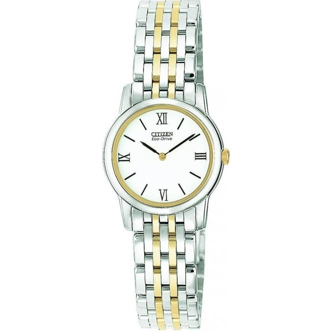 Citizen Watches Ladies Eco Drive Two Colour Bracelet Watch