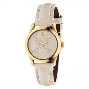 Ladies Gucci G-Timeless quartz beige strap YA126580