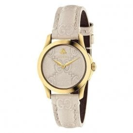 Ladies Gucci G-Timeless quartz beige strap YA126580
