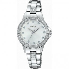 Ladies stainless steel Lorus quartz watch. RG269KX9