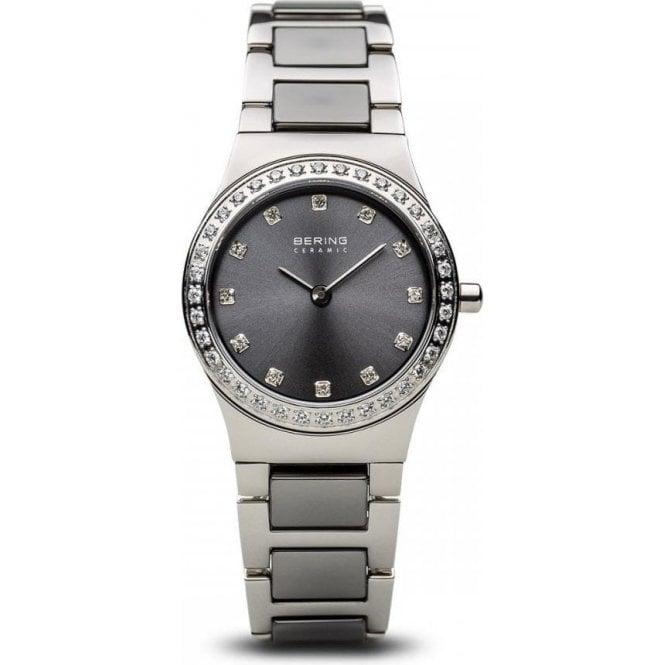 Bering Watches Ladies steel ceramic Bering quartz on bracelet 32426-703