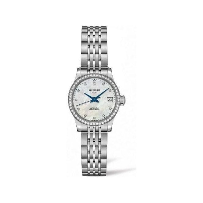 Longines Watches Ladies steel Longines Record automatic MOP diamond L2 320 0 876