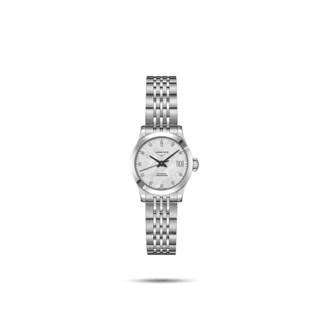 Longines Watches Ladies steel Longines Record automatic on bracelet. L2 320 4 87