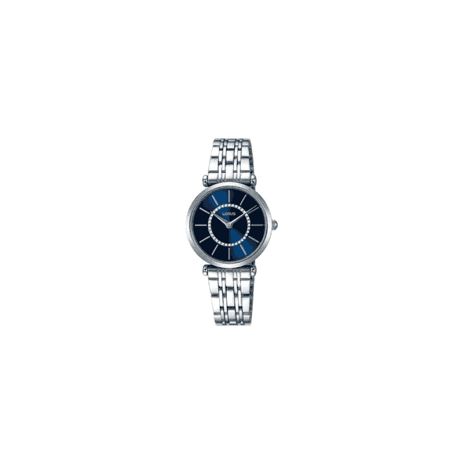 Lorus Ladies steel Lorus quartz with blue dial. RRW97EX9