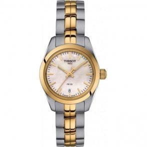 Ladies Tissot PR 100 classic bracelet watch.