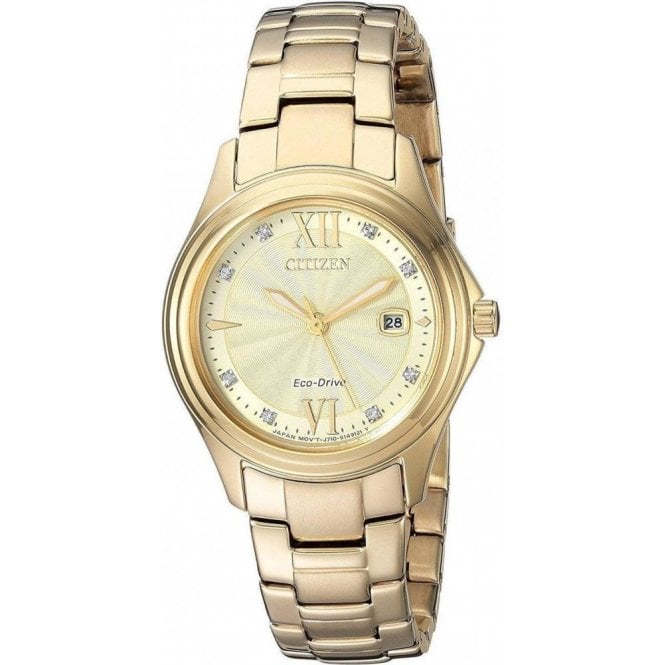 Citizen Watches Ladies yellow PVD Citizen Eco Drive FE1132 84P