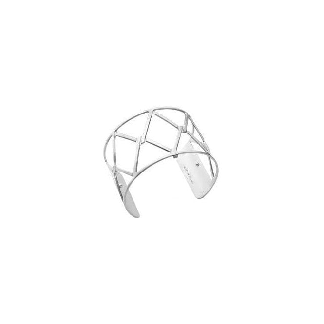 Les Georgettes Silver 40mm Cannage Cuff