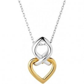 18K Yellow Gold Vermeil & Sterling Silver Infinite Love Necklace