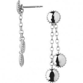 Amulet sterling silver drop earrings