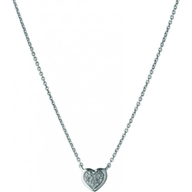 Links Of London Diamond Essentials Silver Paved Heart Pendant