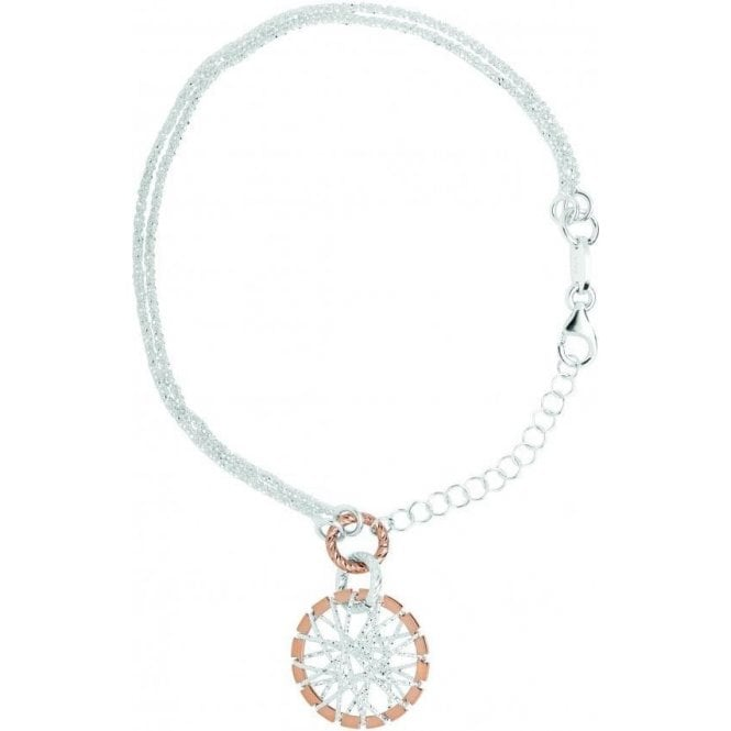 Links Of London Dream Catcher Silver & Rose Gold Bracelet