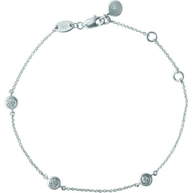 Links Of London Essentials Diamond & Silver Paved Bracelet