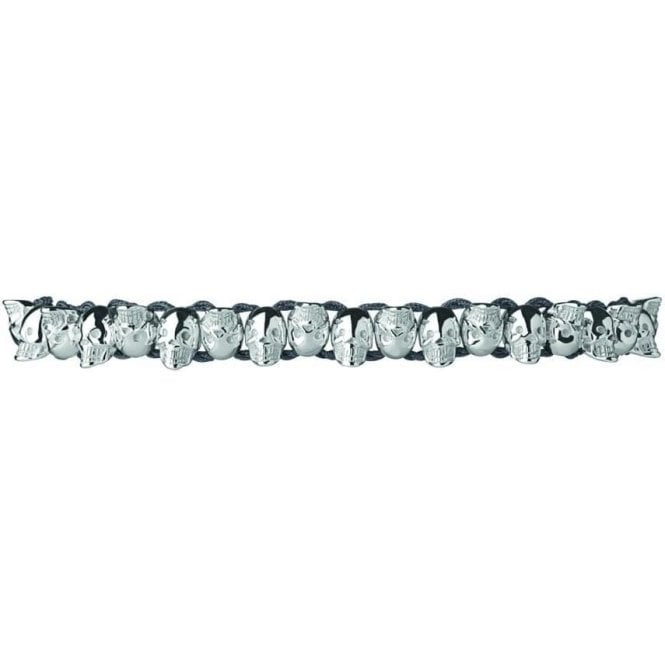 Links Of London Friendship Sterling Silver Skull Bracelet
