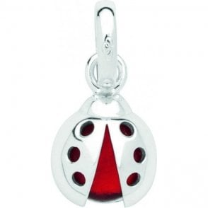 Links of London Lucky Ladybird Charm Sterling Silver & Glass