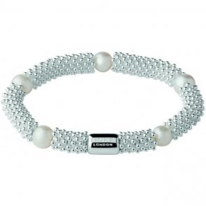 Links of London Silver Effervescence Star Bracelet White Pearl