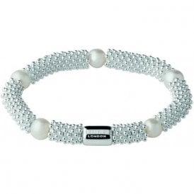Links of London Silver Effervescence Star Bracelet White Pearl