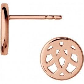 Timeless 18kt Rose Gold Vermeil Stud Earrings
